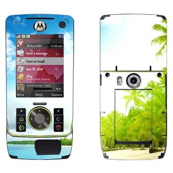 Виниловая наклейка «Тропический пляж» на телефон Motorola Z8 Rizr
