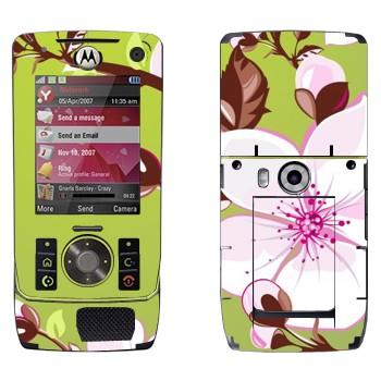 Виниловая наклейка «Цветет вишня» на телефон Motorola Z8 Rizr