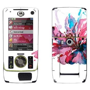 Виниловая наклейка «Цветок нарисованный акварелью» на телефон Motorola Z8 Rizr