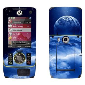 Виниловая наклейка «Вид на Землю и Луну из космоса» на телефон Motorola Z8 Rizr