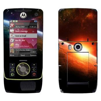 Виниловая наклейка «Восход солнца на орбите Земли» на телефон Motorola Z8 Rizr