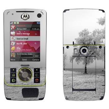 Виниловая наклейка «Заснеженное дерево» на телефон Motorola Z8 Rizr
