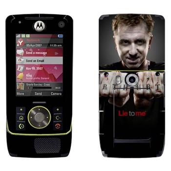 Виниловая наклейка «Кэл Лайтман - Обмани меня» на телефон Motorola Z8 Rizr