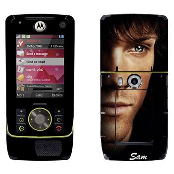 Виниловая наклейка «Сэм Винчестер» на телефон Motorola Z8 Rizr