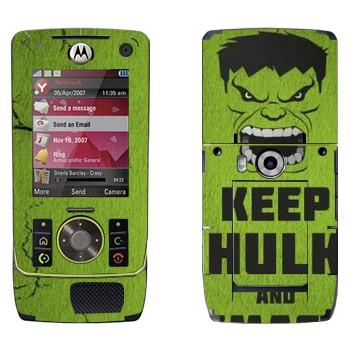 Виниловая наклейка «Keep Hulk and» на телефон Motorola Z8 Rizr