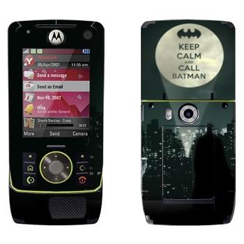 Виниловая наклейка «Keep calm and call Batman» на телефон Motorola Z8 Rizr