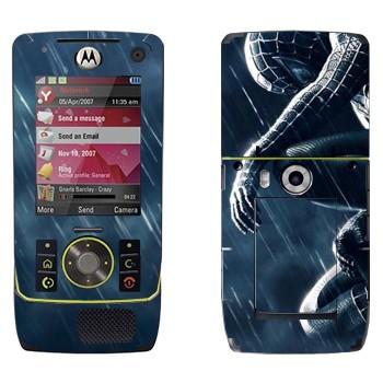 Виниловая наклейка «Человек-паук под дождем» на телефон Motorola Z8 Rizr