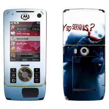 Виниловая наклейка «Джокер : Почему такой серьезный?» на телефон Motorola Z8 Rizr