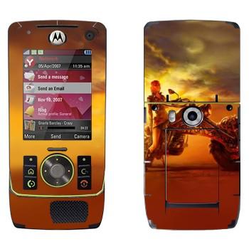 Виниловая наклейка «Девушка на мотоцикле» на телефон Motorola Z8 Rizr