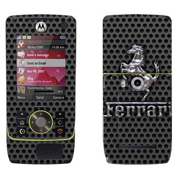 Виниловая наклейка «Эмблема Ferrari из металла» на телефон Motorola Z8 Rizr