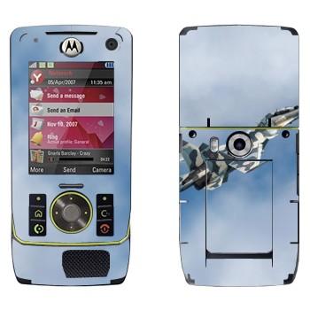Виниловая наклейка «Военный самолет  Су-27» на телефон Motorola Z8 Rizr