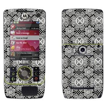 Виниловая наклейка «Кружево в мелкие цветки» на телефон Motorola Z8 Rizr