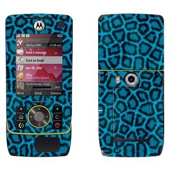 Виниловая наклейка «Шкура леопарда синяя» на телефон Motorola Z8 Rizr
