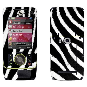 Виниловая наклейка «Шкура зебры» на телефон Motorola Z8 Rizr