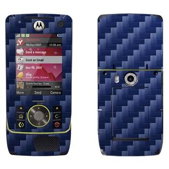 Виниловая наклейка «Синий карбон» на телефон Motorola Z8 Rizr