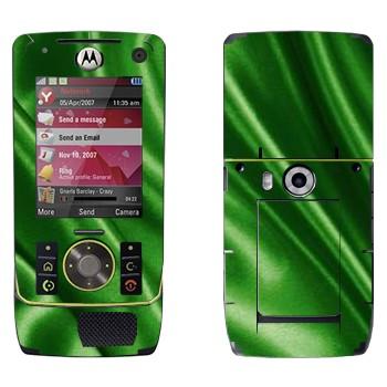 Виниловая наклейка «Зеленая шелковая ткань» на телефон Motorola Z8 Rizr