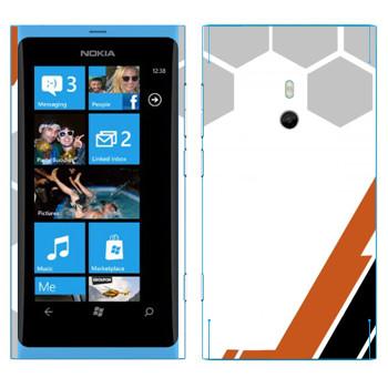 Виниловая наклейка «Игровая абстракция» на телефон Nokia Lumia 800