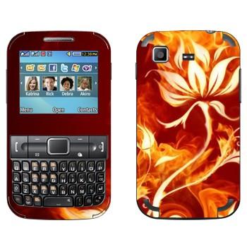 Виниловая наклейка «Цветок в огне» на телефон Samsung C3222 Duos