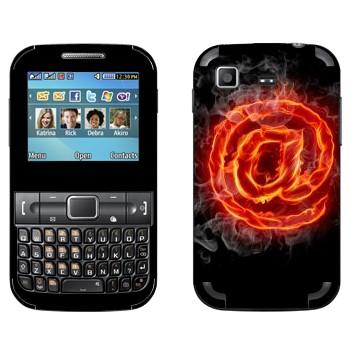 Виниловая наклейка «Горящая собачка» на телефон Samsung C3222 Duos