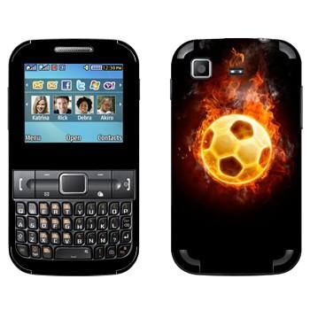 Виниловая наклейка «Мяч в огне» на телефон Samsung C3222 Duos