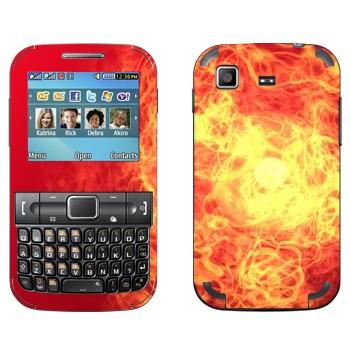 Виниловая наклейка «Огненная буря» на телефон Samsung C3222 Duos