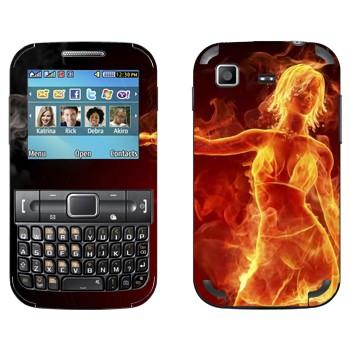 Виниловая наклейка «Огненная девушка в купальнике» на телефон Samsung C3222 Duos