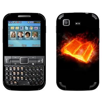 Виниловая наклейка «Огненная книга» на телефон Samsung C3222 Duos