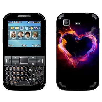 Виниловая наклейка «Огненное сердце» на телефон Samsung C3222 Duos