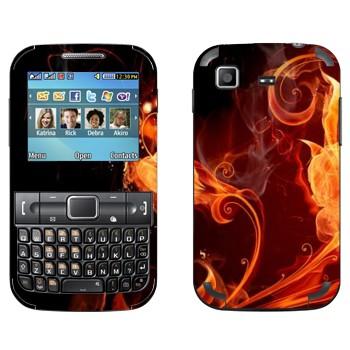 Виниловая наклейка «Огненные цветы» на телефон Samsung C3222 Duos
