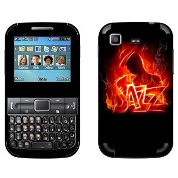 Виниловая наклейка «Огненный джаз» на телефон Samsung C3222 Duos