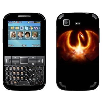 Виниловая наклейка «Огненный дракон» на телефон Samsung C3222 Duos