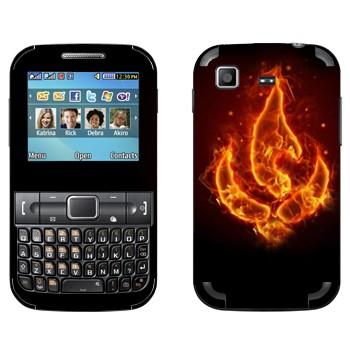Виниловая наклейка «Огненный цветок» на телефон Samsung C3222 Duos