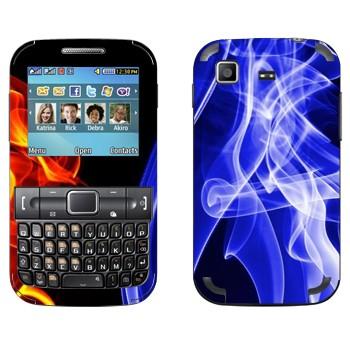 Виниловая наклейка «Огонь и Лёд» на телефон Samsung C3222 Duos