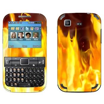 Виниловая наклейка «Открытое пламя» на телефон Samsung C3222 Duos