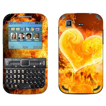 Виниловая наклейка «Пылающее сердце» на телефон Samsung C3222 Duos