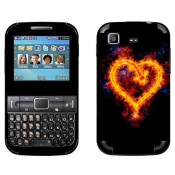 Виниловая наклейка «Сердце огненное» на телефон Samsung C3222 Duos