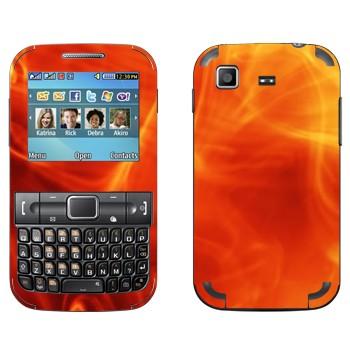 Виниловая наклейка «Внутри пламени» на телефон Samsung C3222 Duos