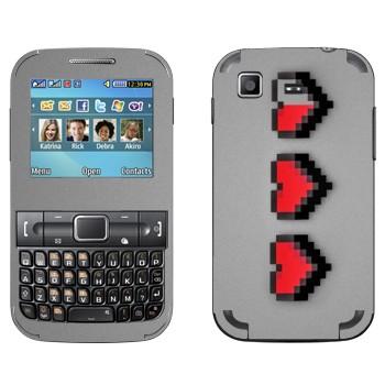 Виниловая наклейка «8-битное сердце» на телефон Samsung C3222 Duos