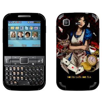 Виниловая наклейка «Alice: Madness Returns» на телефон Samsung C3222 Duos