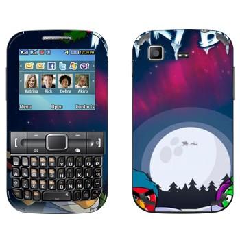 Виниловая наклейка «Angry Birds зимой» на телефон Samsung C3222 Duos