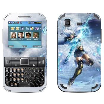 Виниловая наклейка «Ashe - Ледяная лучница» на телефон Samsung C3222 Duos