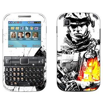 Виниловая наклейка «Battlefield 3 - солдат» на телефон Samsung C3222 Duos