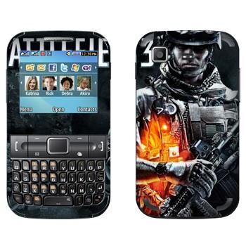 Виниловая наклейка «Battlefield 3 - военный» на телефон Samsung C3222 Duos