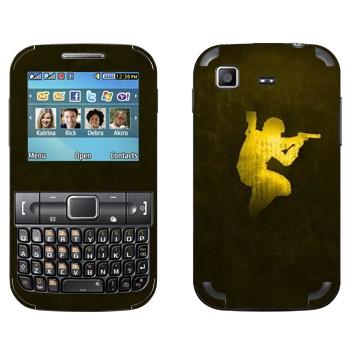 Виниловая наклейка «Counter Strike эмблема» на телефон Samsung C3222 Duos