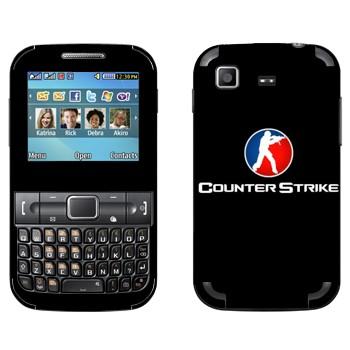 Виниловая наклейка «Counter Strike логотип» на телефон Samsung C3222 Duos