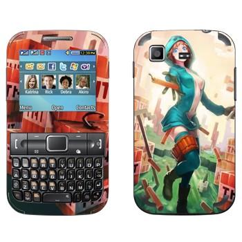 Виниловая наклейка «Creeper Девушка - Minecraft» на телефон Samsung C3222 Duos