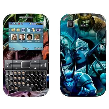 Виниловая наклейка «DotA 2 - Персонажи» на телефон Samsung C3222 Duos