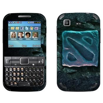 Виниловая наклейка «Dota 2 логотип» на телефон Samsung C3222 Duos