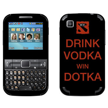 Виниловая наклейка «Drink Vodka With Dotka» на телефон Samsung C3222 Duos