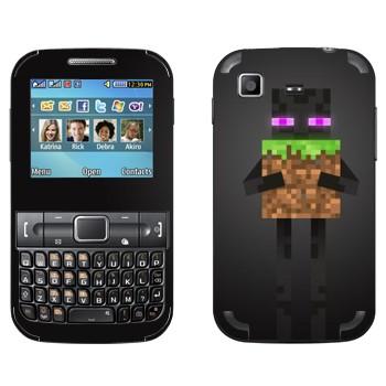 Виниловая наклейка «Enderman - Minecraft» на телефон Samsung C3222 Duos